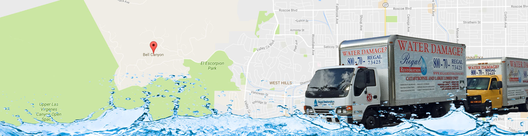 Water Damage Removal Bell Canyon, California