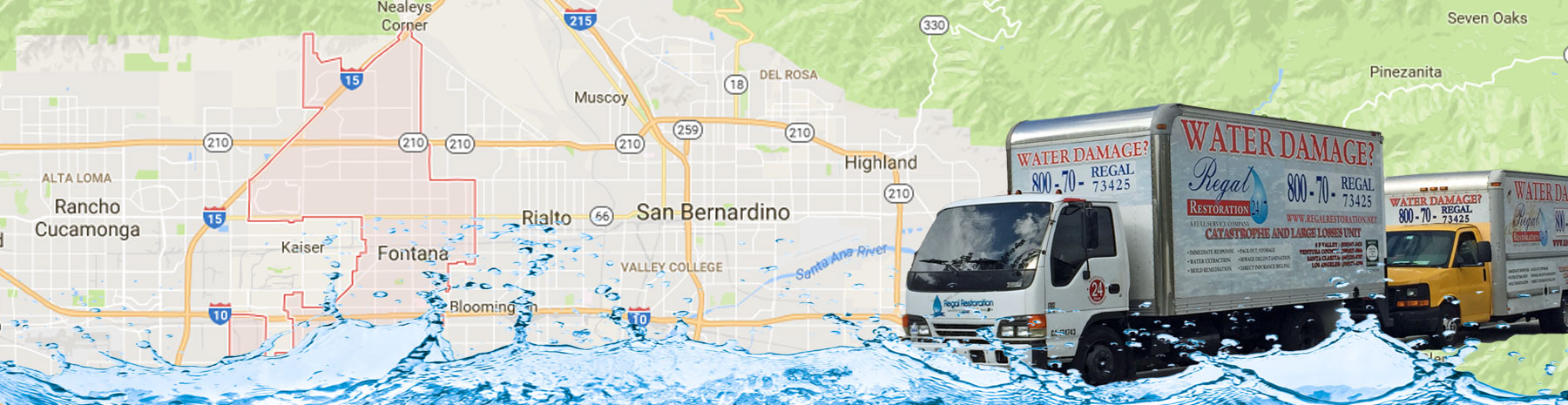 Water Damage Services Fontana, California
