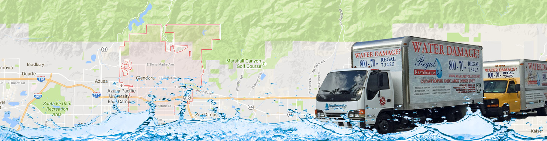 Water Damage Glendora, California